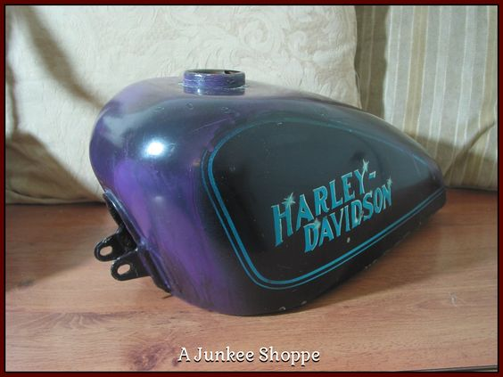 HARLEY DAVIDSON 1952 Thru 1970 Sportster Motorcycle Center Fill Gas Tank Used Junk 968  http://ajunkeeshoppe.blogspot.com/