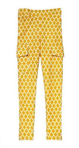 Namaste Legging - Jali Ikat Yellow
