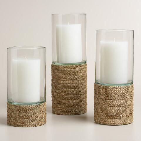 Natural Seagrass Hurricane Candleholder | World Market