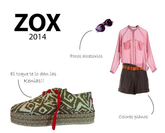 ZOX look verano 2014. Kenias estampadas con plataforma de yute