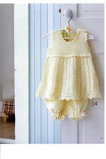 Artesanato diversão e prazer: Vestidos de croche para bebês com gráfico …