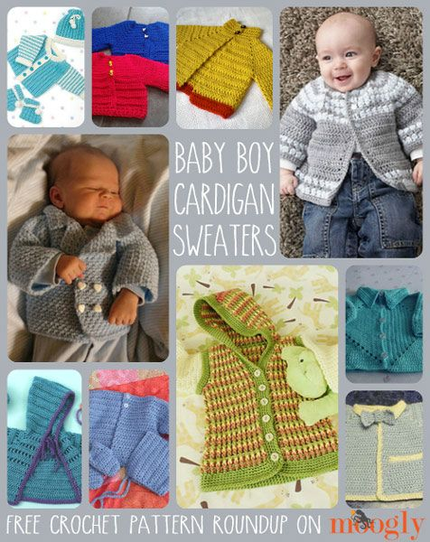 Crafting for the Little Man: 10 Free Crochet Cardigan Sweater Patterns for Baby Boys!:
