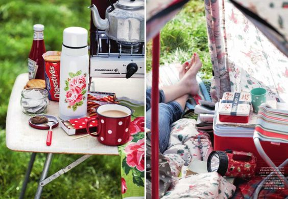 I'd go glamping with Cath Kidson.