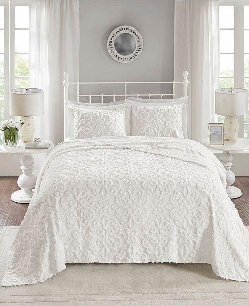 Madison Park Sabrina 3 Pc King California King Tufted Cotton Chenille Bedspread Set Reviews Quilts Bedspreads White Bedspreads Bed Spreads Bedspread Set
