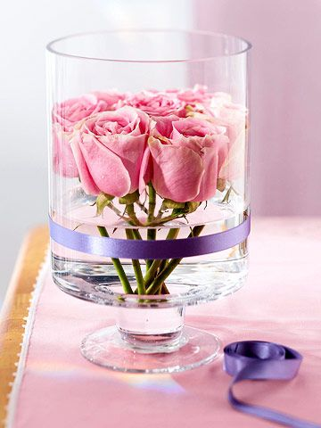 love this idea for flowers! <3