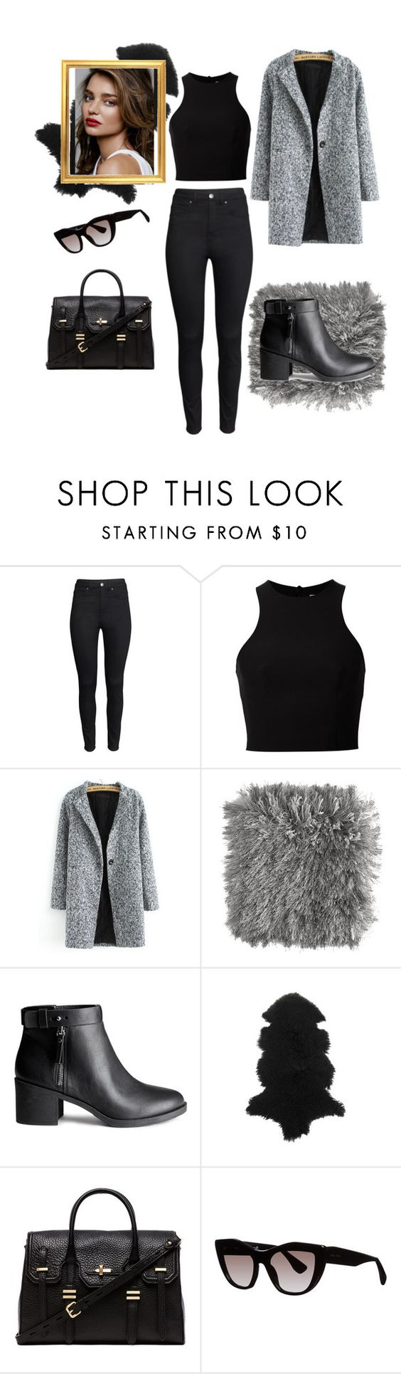 """Gray Day"" by gold-label ❤ liked on Polyvore featuring H&M, T By Alexander Wang, Pier 1 Imports, Amara, Rebecca Minkoff and Miu Miu"