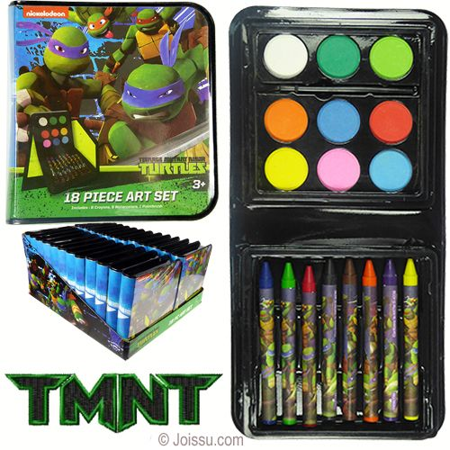 18 Piece Tmnt Art Sets Each Set Includes 8 Teenage Mutant Ninja