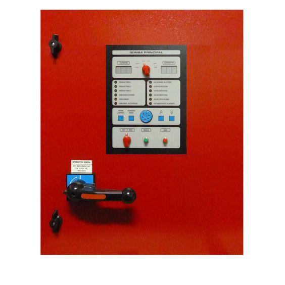 Cuadro eléctrico contra incendios para bomba principal con motor eléctrico. www.ceymacym.com