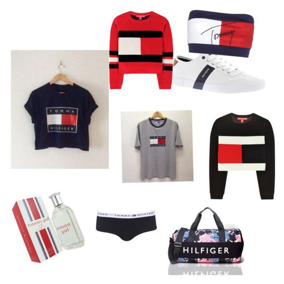 """Everything Tommy Hilfiger"" by kawixxle on Polyvore featuring Tommy Hilfiger and Topshop"