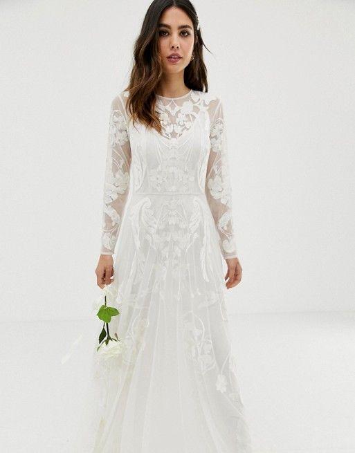 Asos Edition Asos Edition Nouveau Embroidered Wedding Dress Wedding Dresses Under 500 Asos Wedding Dress Embroidered Wedding Dress