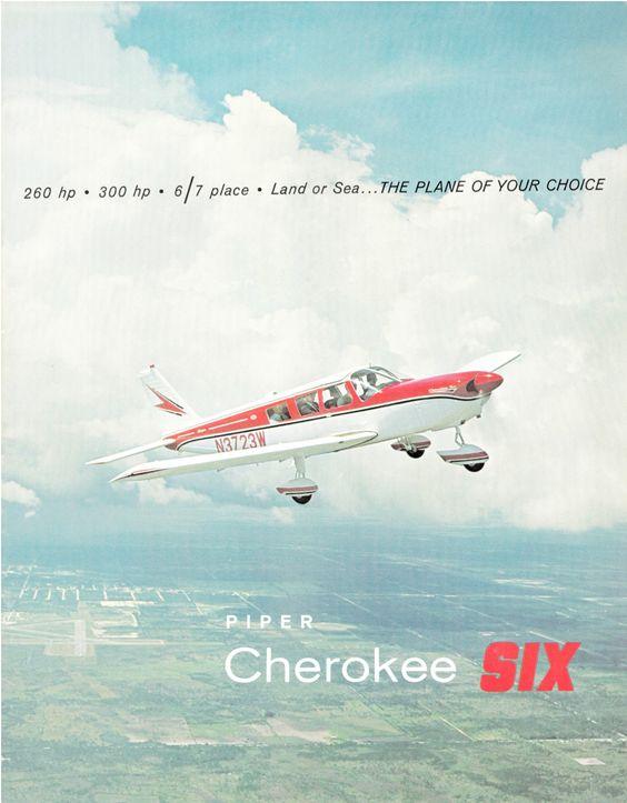 An original Sales Brochure image of my Piper PA-32-260 Cherokee - sales brochure