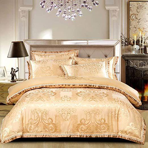 B Amp H Erx Luxury Satin Jacquard Embroidered Bedding Sets 100 Microfibre Double Duvet Cover Bedding Set C Quiltc Bedding Sets Bedding Set Embroidered Bedding