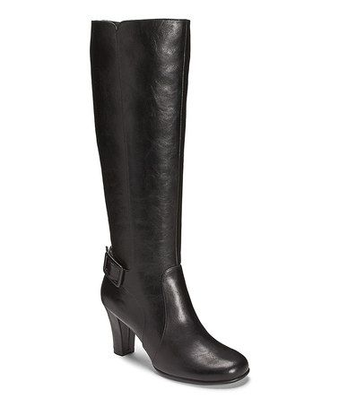 Another great find on #zulily! Black Money Role Wide-Calf Boot #zulilyfinds