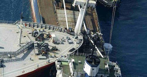 Ship Collision / Someone differently a sleep at the wheel ! Biiiiiiiig Ouch ! by Fixerupperdad