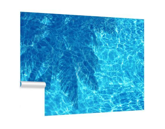Fototapete Palmenschatten im Pool Tapeten \ Farben Fototapeten - tapeten und farben