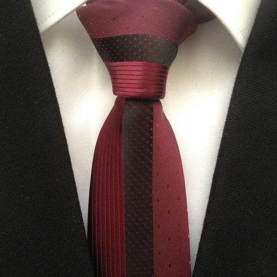 Mens Single Stripe Woven Microfibre Polyester Tie-Evening Work