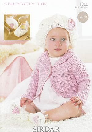 Bolero, Beret and Slippers to crochet. Too Cute!
