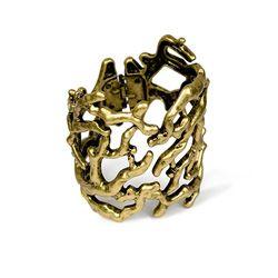 Gold Branch Cuff
