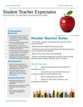 student teacher responsibilities doc this document
