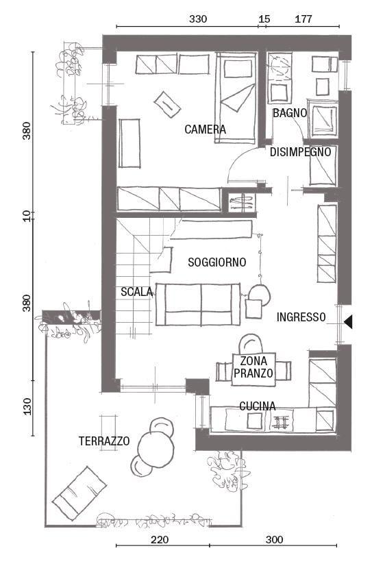 Soluzioni Salvaspazio Nel Sottotetto Su Due Livelli Cose Di Casa Planimetrie Di Case Planimetrie Piccole Case
