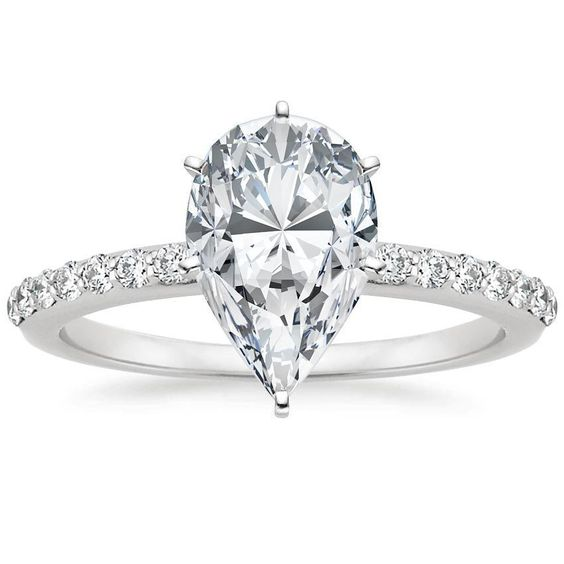 Get a 1.5ct pear cut diamond for $2,487 on diamondhedge.com #engagementring #diamonds #Love