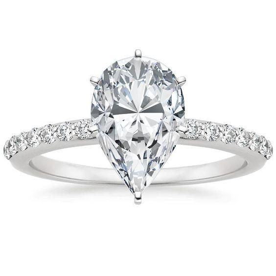 Get a 1.5ct pear cut diamond for $2,487 on diamondhedge.com #engagementring #diamonds #Love