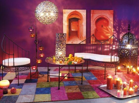 Chambre Parentale Gris Et Bleu : décoration intérieur oriental  atmosphère d'un riad marocain [R