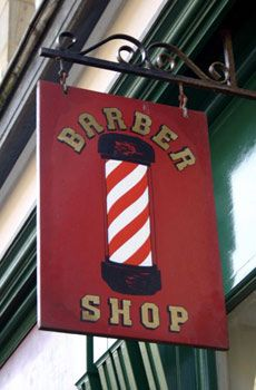 Sign and pole - font not quite right, feels too 'Sports jacket': Barbershop Ideas, Barber'S Pole, Barbers Pole230 Jpg 230, Barbershop Goals, Shop Signs, Barber Surgeon, Barber S Pole