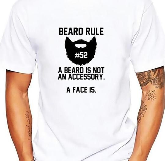 bearded sign BEARD RULE SKULL tshirt men soft Breathable comfort t shi – eticdress