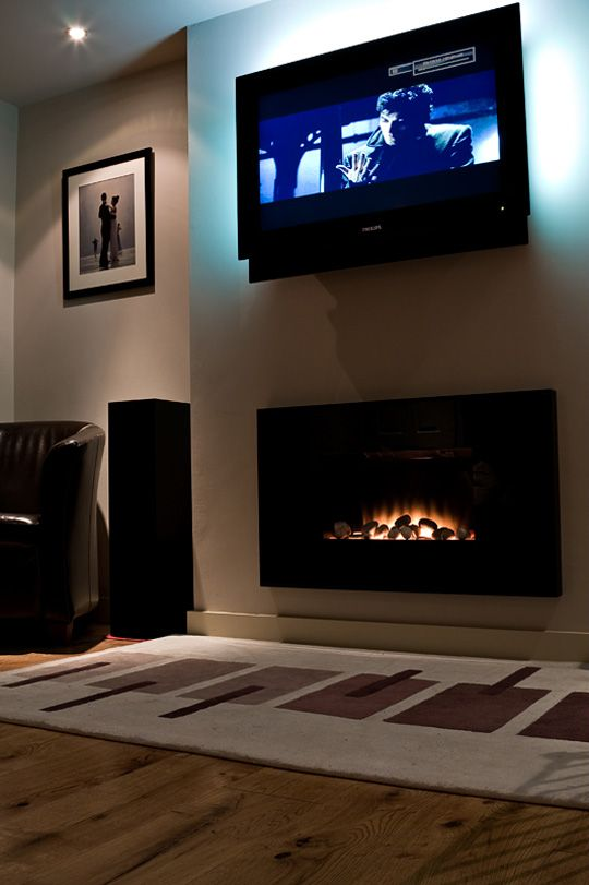 Tv Above Electric Fireplace Part - 17: In Wall Electric Fireplace And TV | Creative Sleeping Ideas | Pinterest | Electric  Fireplaces, Walls And Electric Fireplace Logs
