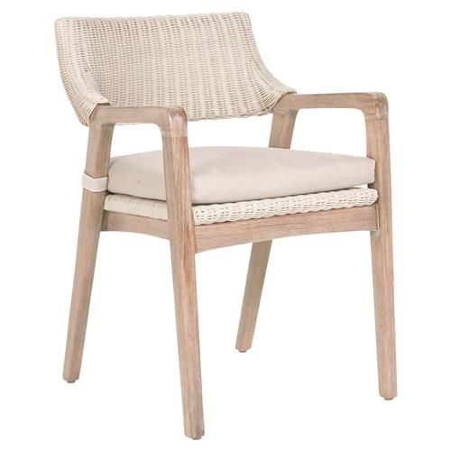 Lucile Modern Classic Woven Wicker Stone Wash Mahogany Frame Dining Chair In 2020 Dining Chairs Diy Eclectic Dining Room Chairs Dining Chairs