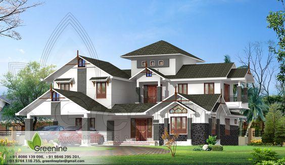 Creative exterior design attractive villa designs indian for Indian villa designs exterior photos
