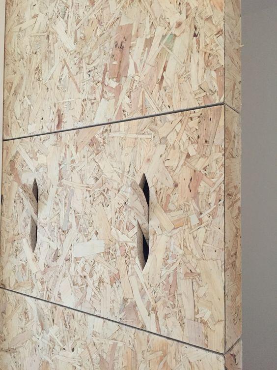 Wall wood osb  coat hook geïntegreerd
