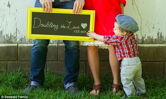 Big brother: The couple are parents to a nine-month-old son named Spurgeon…