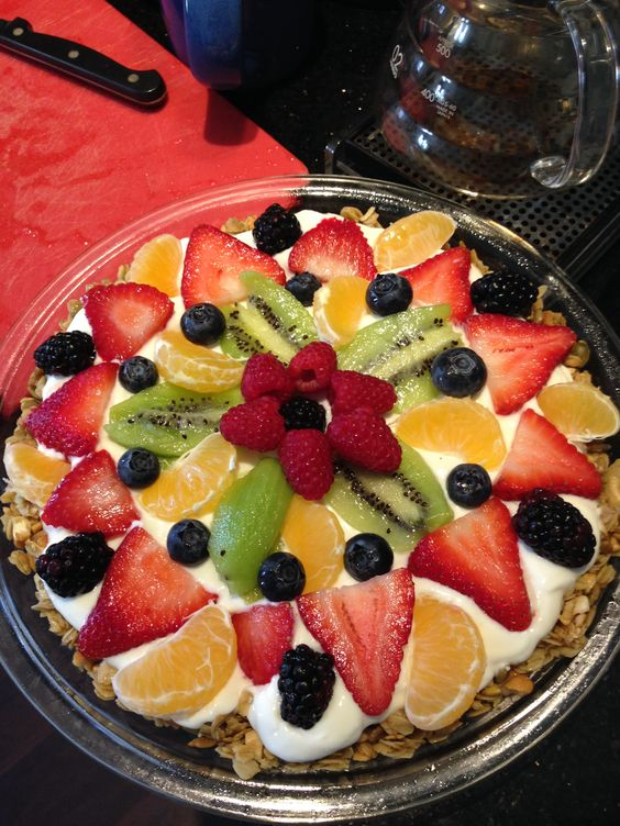 I made a delicious fruit tart! It is so yummy and good for you.
