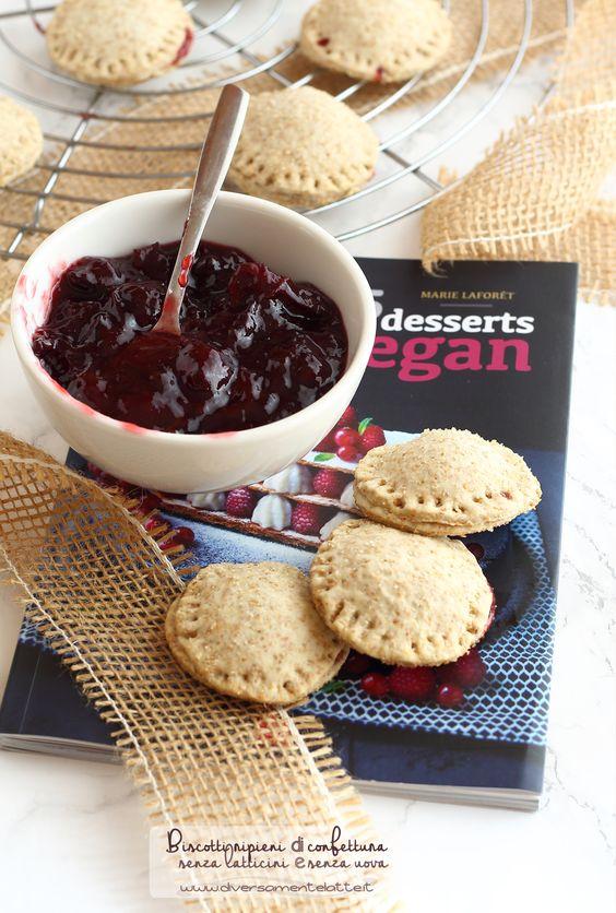 biscotti vegani ripieni di confettura #senzalattosio #senzauova #vegan