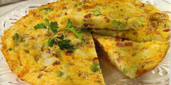 Tortilha de Presunto - http://www.receitassimples.pt/tortilha-de-presunto/
