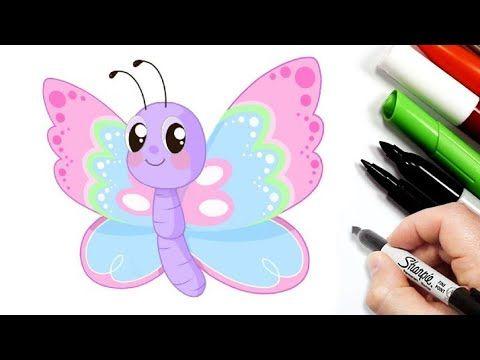 رسم سهل تعليم رسم فراشة سهلة خطوة بخطوة تعلم الرسم كيفية رسم فراشة