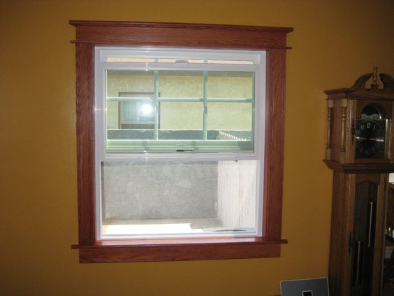 White Windows With Oak Trim Google Search Projects