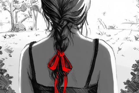Artwork back braids drawings sketches- Image 1920x1200