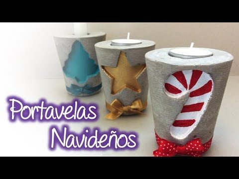 Youtube Cement Crafts Navidad Christmas Crafts