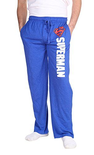 Superman Men's Pajama Pants Bottoms Cotton/Polyester Mach...