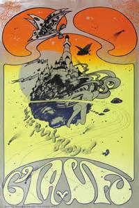 Hapshash and the Coloured Coat: CIA v UFO poster announcing Pink Floyd at UFO club, 1967