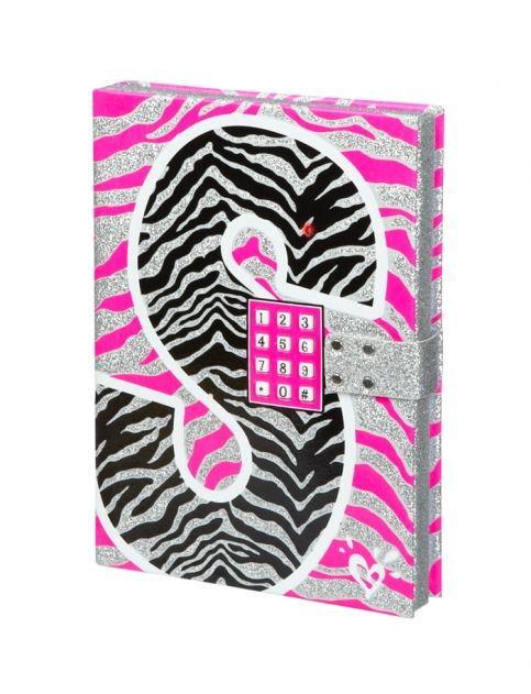 Justice Toys For Girls : Zebra initial push code journal girls journals writing