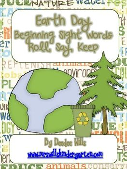 Earth Day fun!  Cute clip art make this familiar game just perfect for your Earth Day themed literacy stations or word work.64 beginning site w...