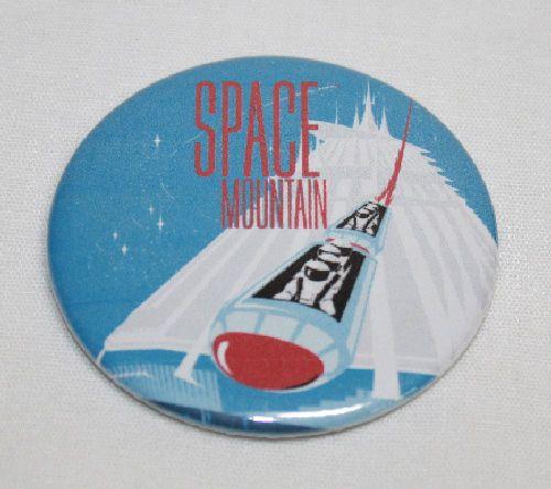 DISNEY PIN Tomorrowland-Autopia Space Mountain Disneyland Vintage Ride Art
