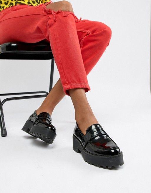 Monki chunky loafer in Black | ASOS in