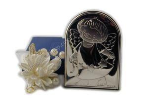 Graziosa icona di un angelo con delle stelline.. la bomboniera è completa di un grazioso portaconfetti!!
