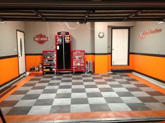 ... Garage Ideas Chess Flooring