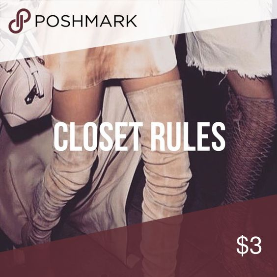 ✨ Closet Rules ✨  Be nice + courteous. Let's continue to make this a great posh community  Always communicative with my buyers    No Trades, sorry!    Bundle for Discounts! Most of my items are like new unless otherwise stated!    I ship Same Day or Next Day   Have any questions? Feel free to ask   Fav Brands (that my closet hates me for ): Faithfull the Brand, Stone Cold Fox, Schutz, Jeffrey Campbell, Nasty Gal, and Lululemon for yoga/lifting or lazy days Tops